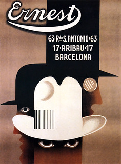 CASSANDRE, A. M. (Adolphe Jean-Marie MOURON, 1901-1968).  Ernest (hat shop), Barcelona, 1926. | by Halloween HJB