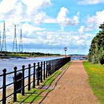 Riverside walk at Preston Docks