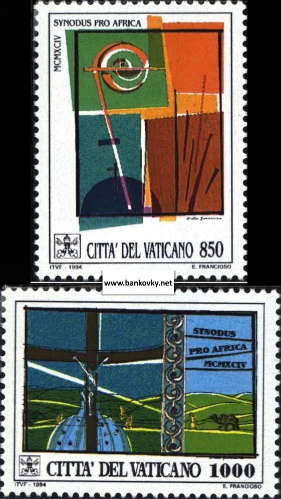 Známky Vatikán 1994 Biskupská synoda séria MNH