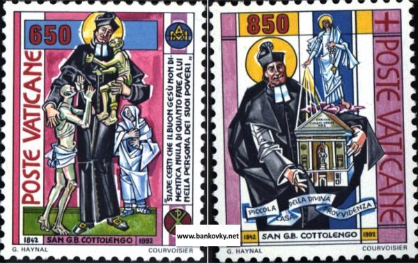 Známky Vatikán 1992 Cottolengo séria