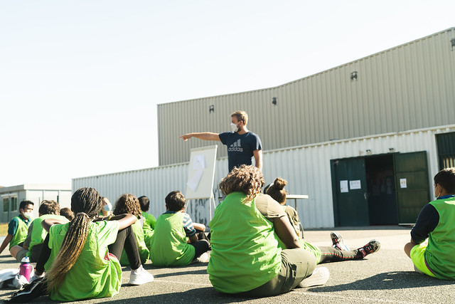 Journée nationale du sport scolaire, JNSS 2020, collège Rosa Parks, 23 sept. 2020