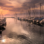 19. September 2020 - 17:31 - Sunset at the Marina (Portalban, Switzerland)