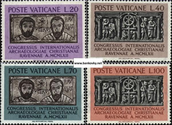Známky Vatikán 1962 Kresťanská archeológia séria MNH