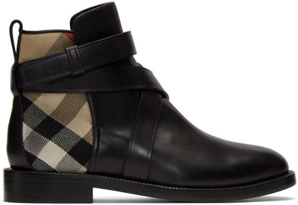 7_ssense_burberry_black_house_check_pryle_boots_ankle_booties_fall_calfskin_buckle