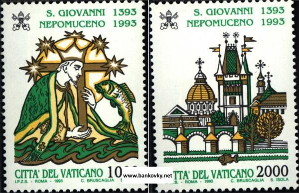 Známky Vatikán 1993 Jan Nepomucký séria MNH