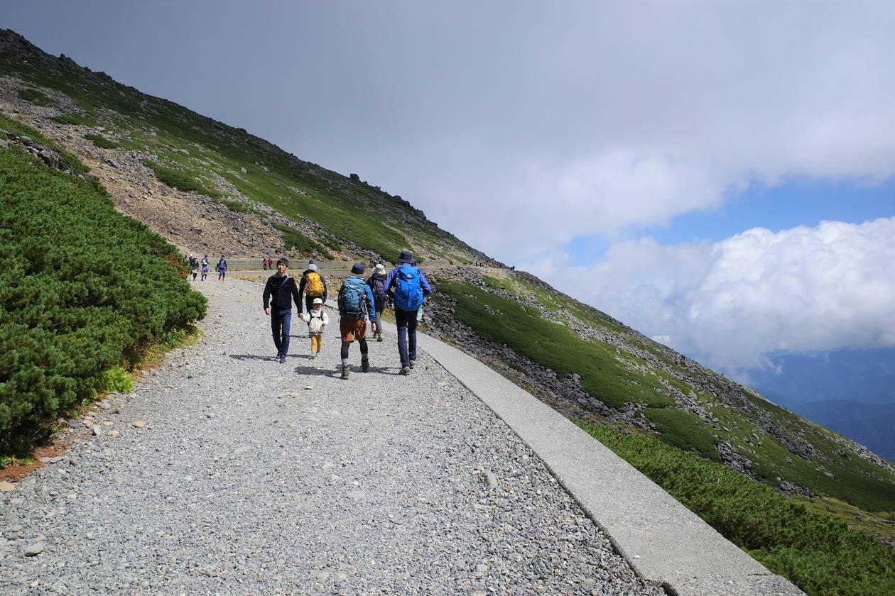 乗鞍岳の遊歩道