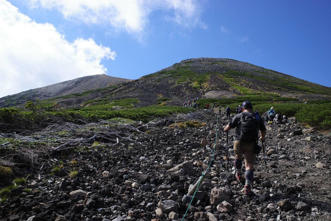 肩の小屋から乗鞍岳山頂へ