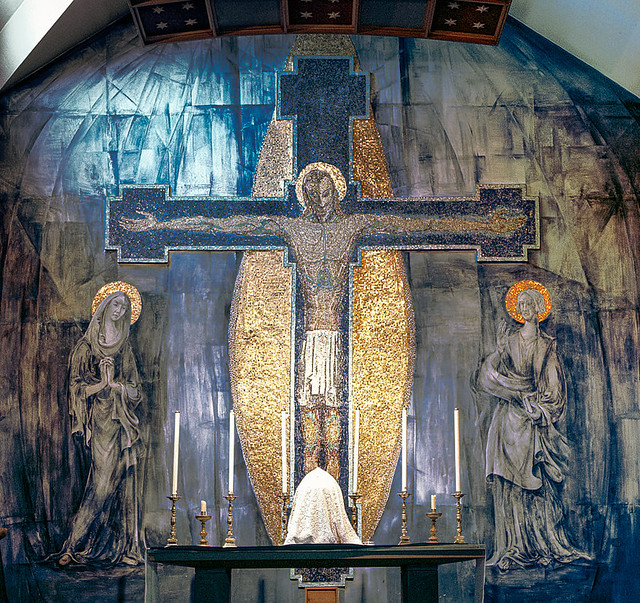 'The Crucifixion', rare mural by Hungarian artist George Mayer-Marton