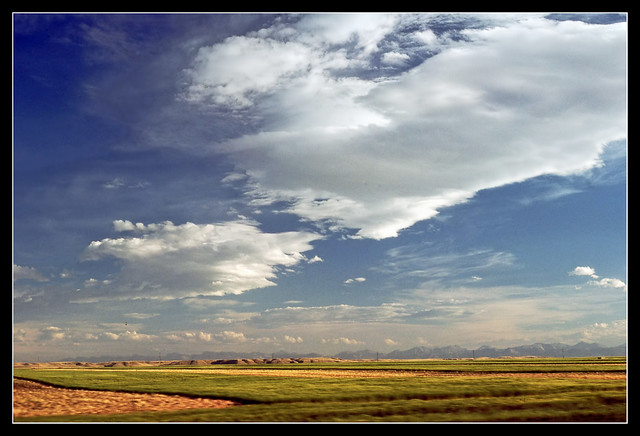 Rocky Mountain Front from the Train - Montana, 1977