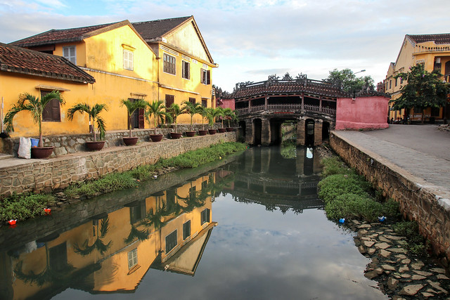 Hoi An with its Japanese covered bridge, Vietnam