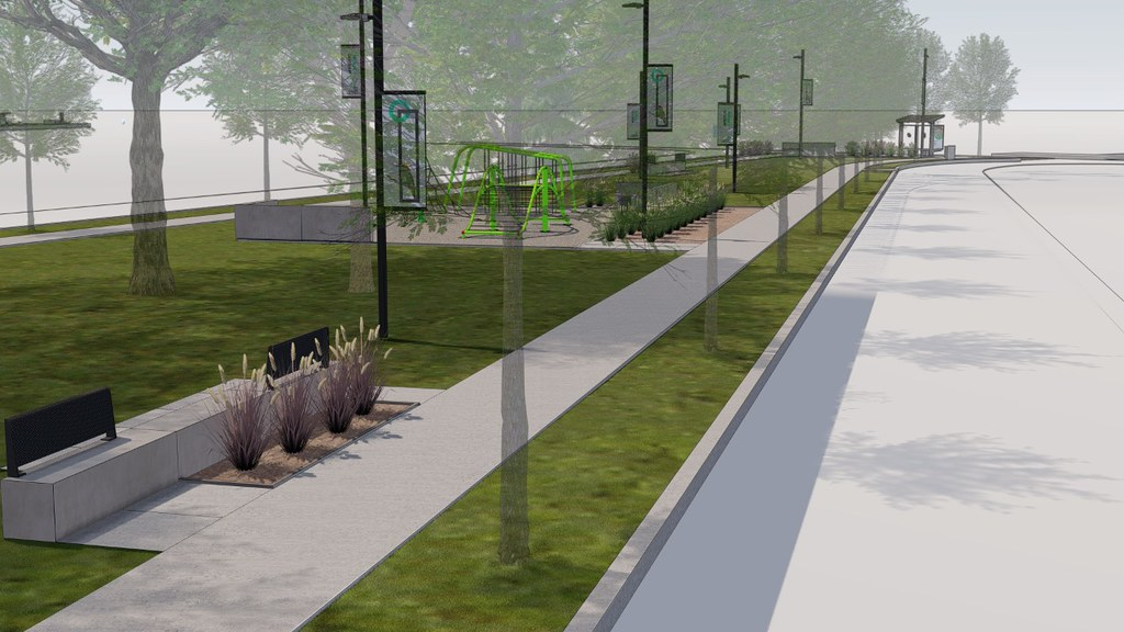 Plaza Valdivia en proyecto
