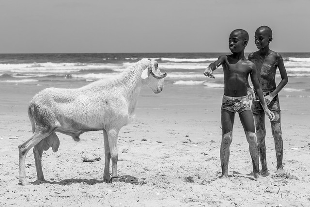 Senegal Seaside in Black & White