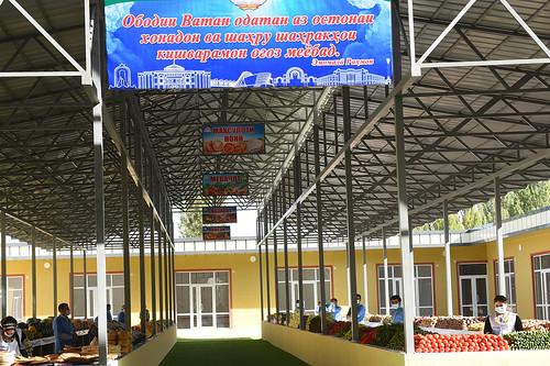 Ифититоҳи бозор дар маркази ноҳияи Шамсиддини Шоҳин  24.09.2020