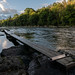 Fisherman's boards on River Wye