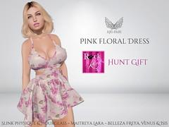 [Ari-Pari] Pink Floral Dress