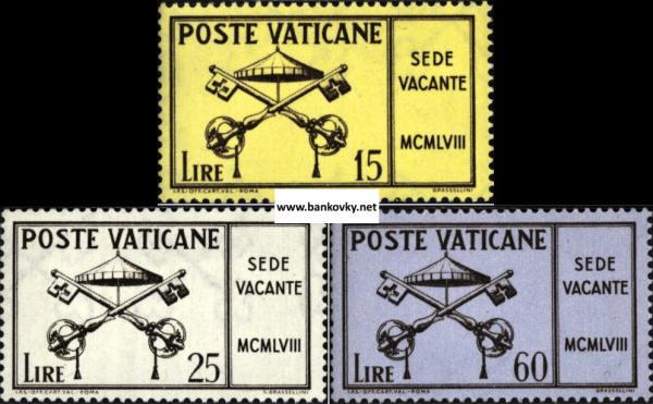 Známky Vatikán 1958 Pápež Pius XII. séria MNH