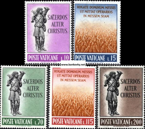 Známky Vatikán 1962 Kňazské odvolania séria MNH