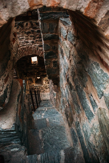 Narrow staircase inside the Ram fortress