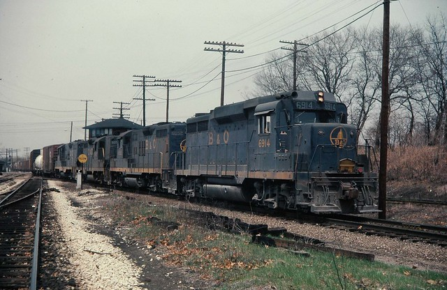 B&O GP-30 at Griffith Ind March 1975