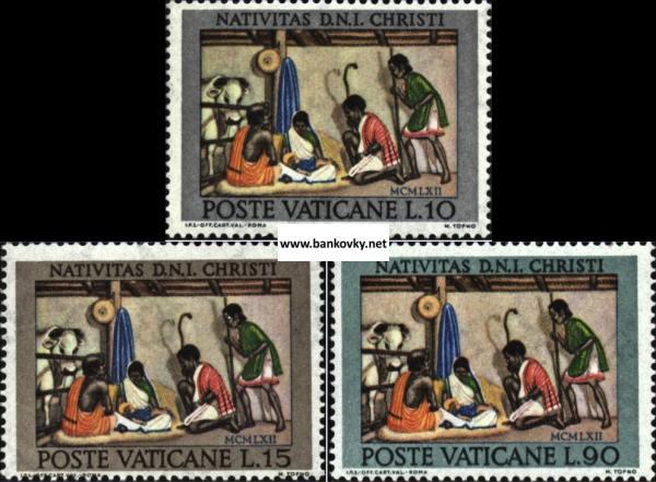 Známky Vatikán 1962 Vianoce séria MNH