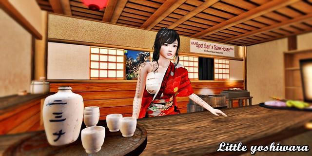Hanae in the Sake house