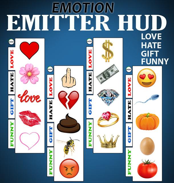 Emotion emitter HUD