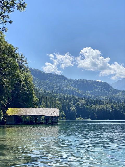 Schwangau - House by the Alpsee lake.