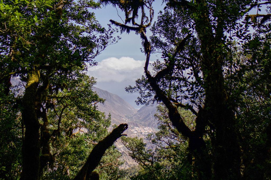 Vallehermoso visto desde el Parque Nacional de Garajonay