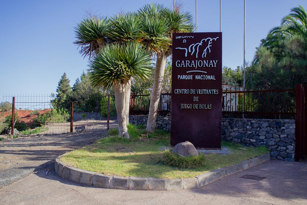 Entrada del centro de visitantes Juego de Bolas en La Gomera