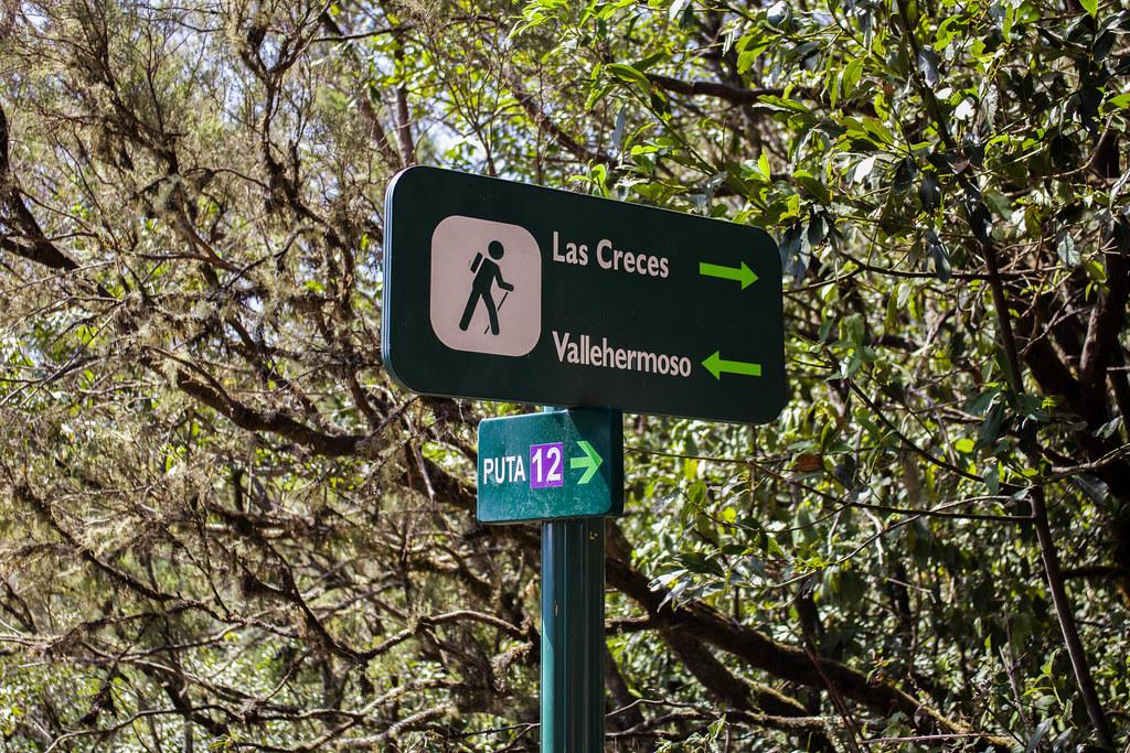 Cruce de senderos en Raso de Bruma en La Gomera