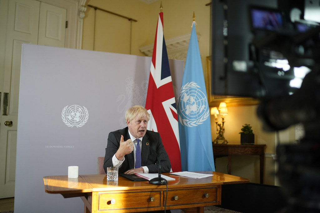Boris Johnson joins the UNGA Climate Change Roundtable
