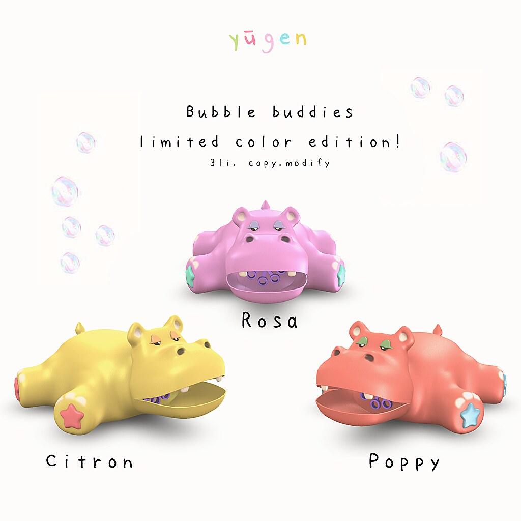 bubble buddies – limited colors!