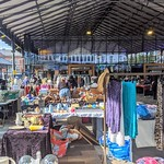 Busy market at Preston