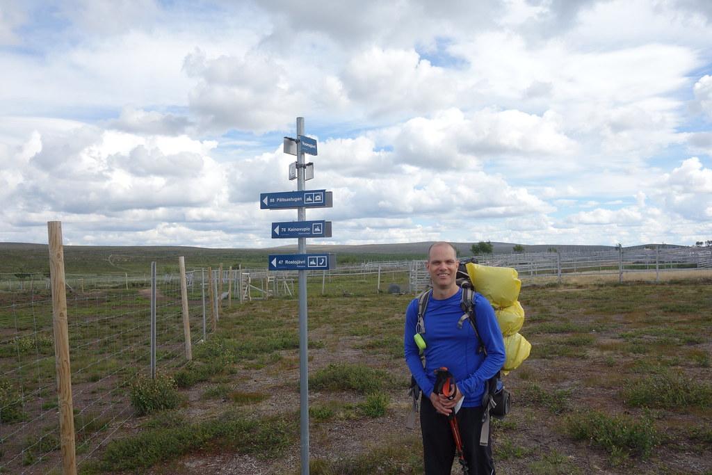 Jag ser väl hyfsat laddad ut precis innan starten från Pulsujärvi.