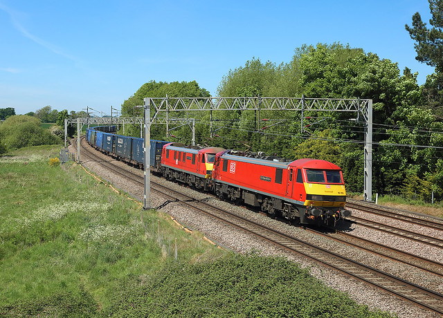 90028+90036, Norton Bridge, 20 May 2020