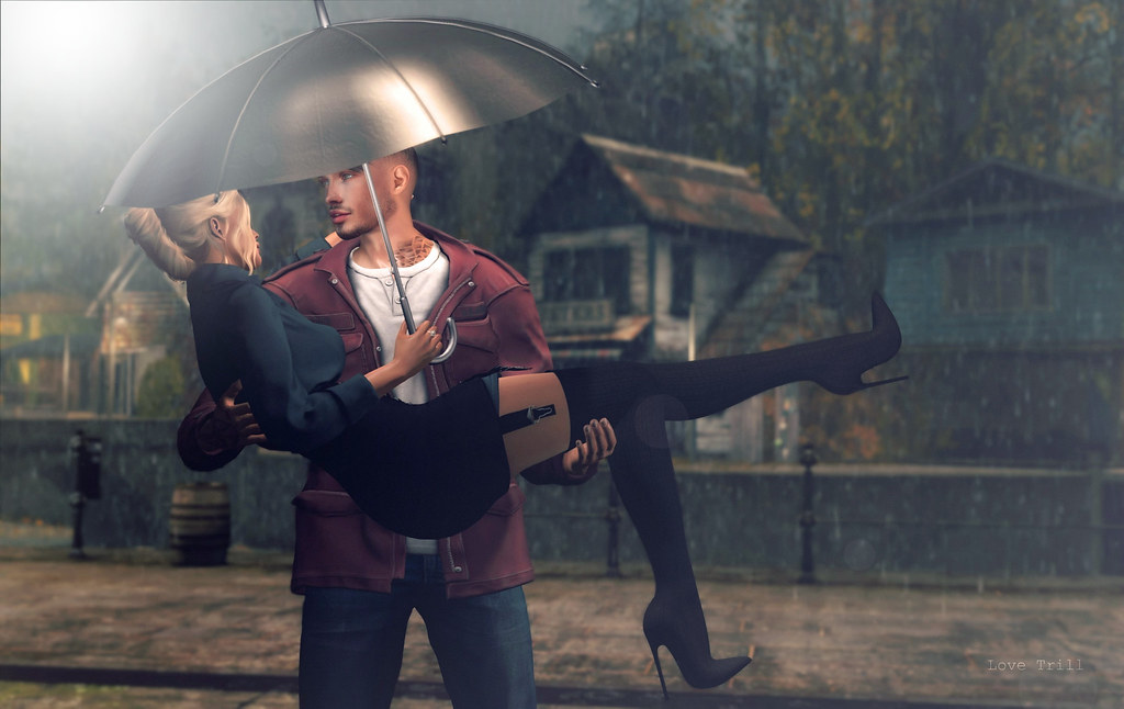A gentleman always lifts his lady over a puddle ♥