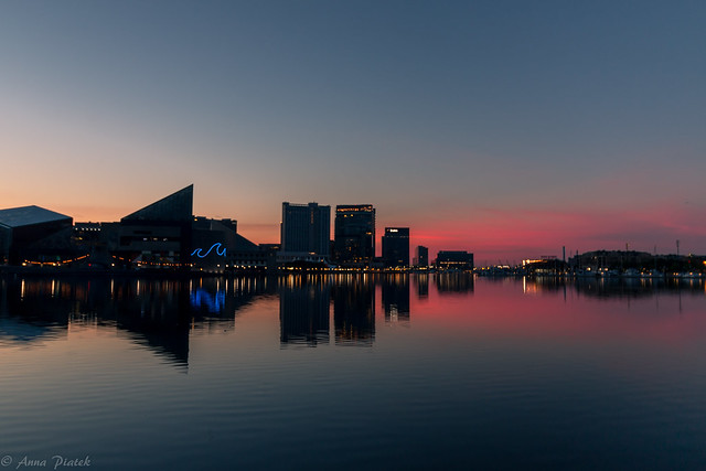 Inner Harbor before sunrise