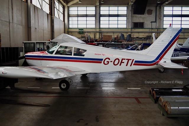 G-OFTI : Piper PA-28-140 Cherokee at St Athan.