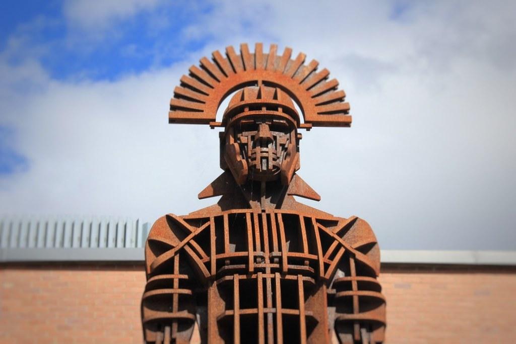 Bronze sculpture of a Roman Centurion, Segedunum