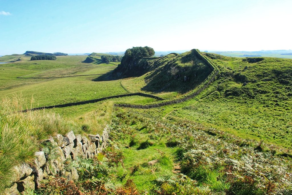 Hadrian's Wall between Once Brewed and Chollerford
