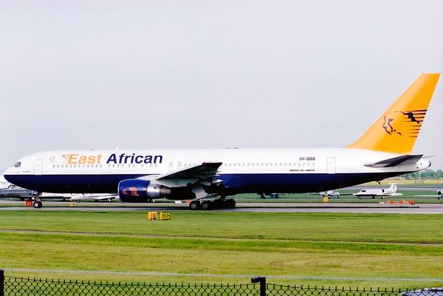 East African Safari Air | Boeing 767-300ER | 5Y-QQQ | Manchester International