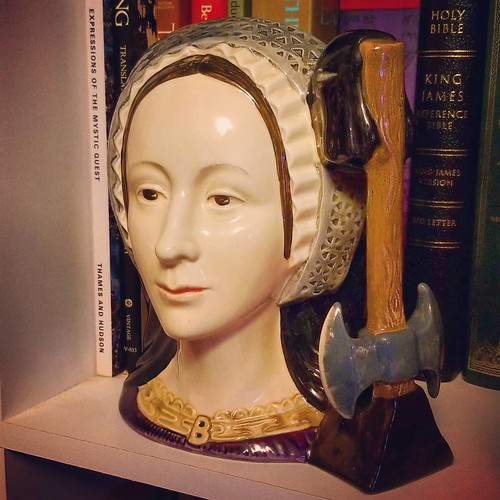 No, YOU bought a Toby jug in the shape of Anne Boleyn, with the executioner's axe as the handle. #AnneBoleyn #TobyJug #antiquing