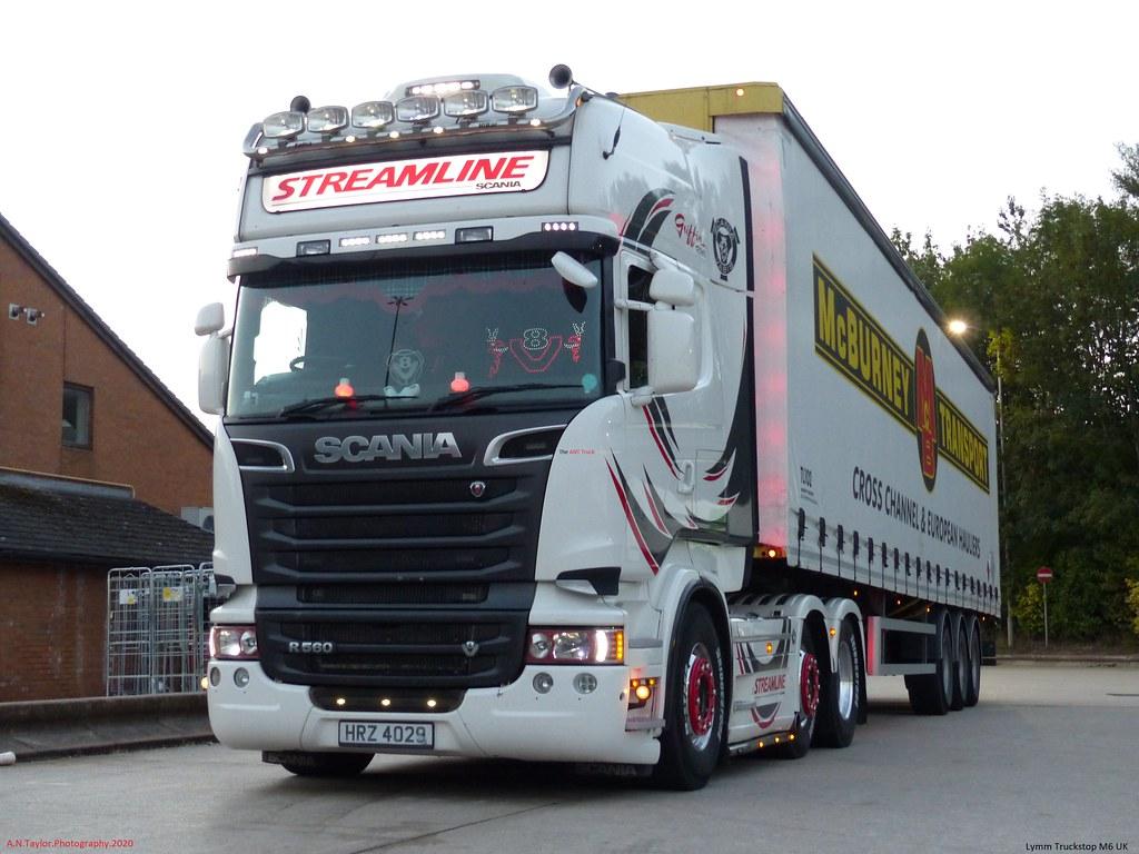 Scania R560 Streamline Topline V8 HRZ 4029 [ N.IRE ] Lymm Truckstop M6 UK