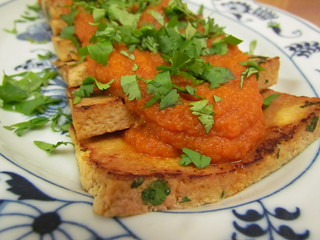 Pan-Fried Tofu with Carrot-Ginger Sauce