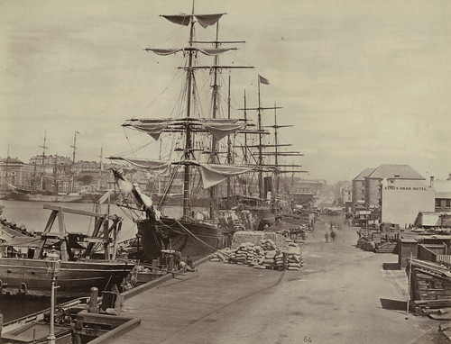 Tallships and King's Head Hotel, Circular Quay, Sydney, c. 1877 | by State Library of New South Wales collection