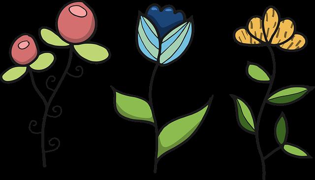 gambar bunga 3 warna