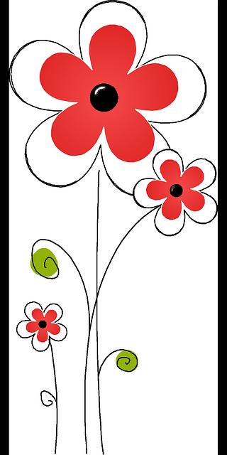 flora kembang merah