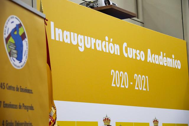 Inauguración Curso Académico 2020-2021. Foto: Rubén Somonte/MDE.