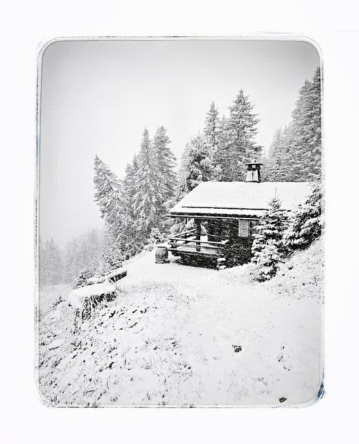 In der Schweiz hat es geschneit. Swiss Apls.