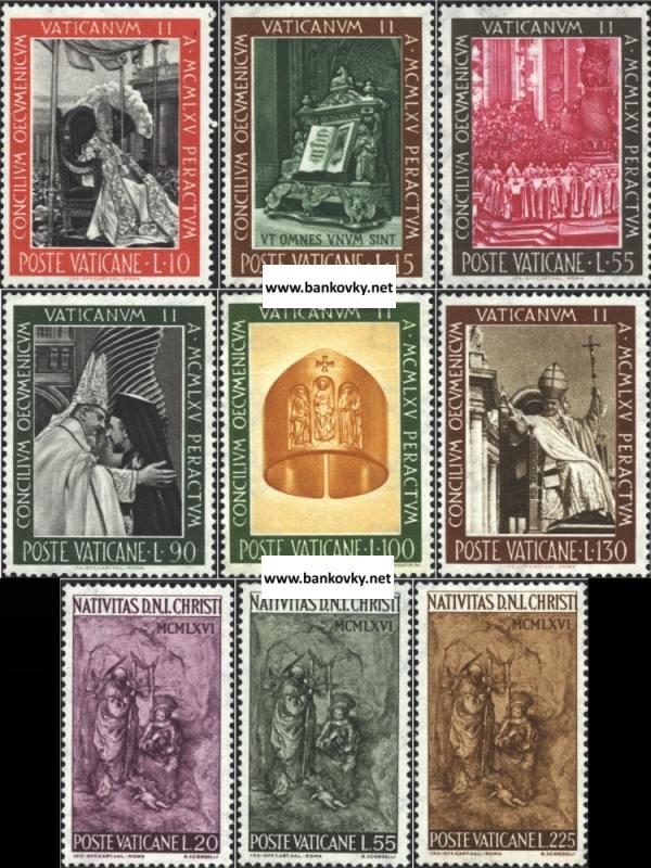Známky Vatikán 1966 II. koncil a Vianoce
